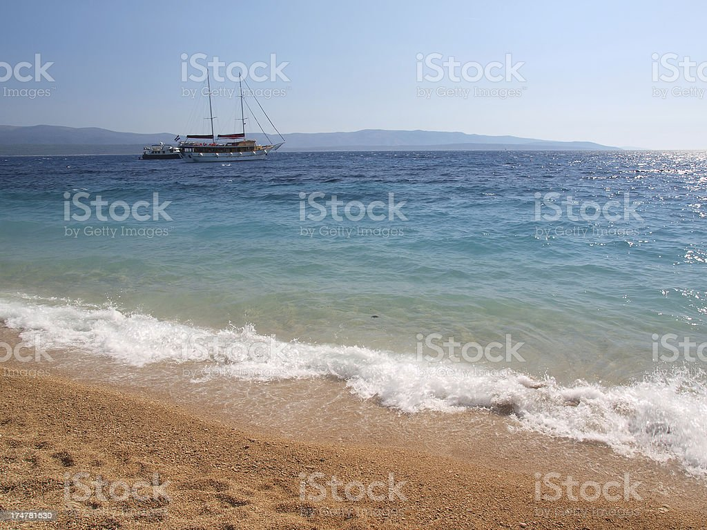 Adriatic beach royalty-free stock photo