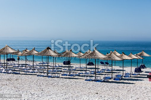 The adriatic coast in Albania between Therme and Saranda