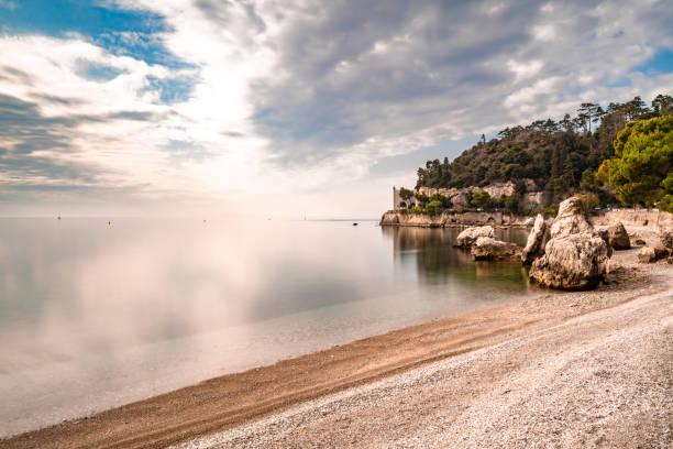 Adriatic coast near Trieste, Italy stock photo