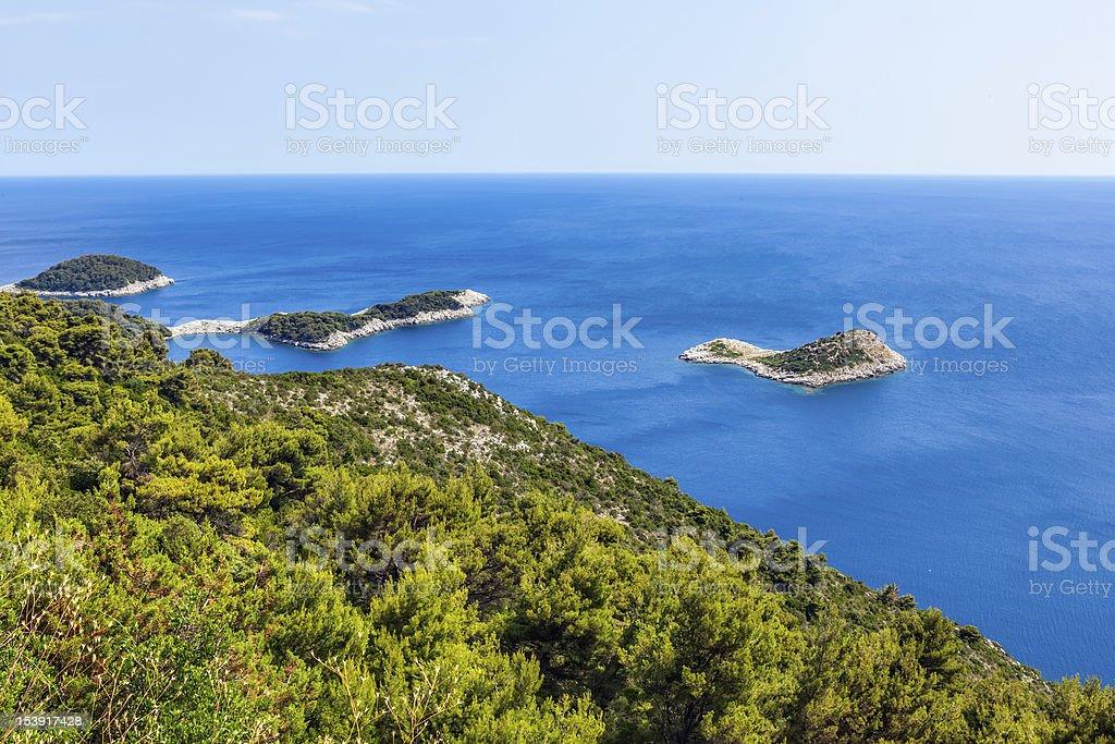 Adriatic landscape stock photo
