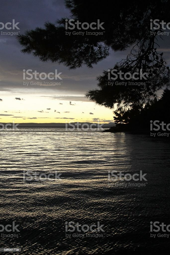 Adriatic sea at night royalty-free stock photo