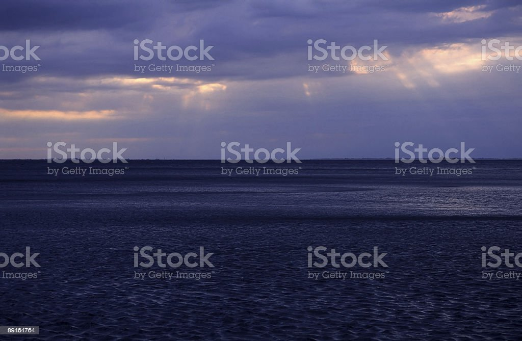 Adriatic Sea at sunset royalty-free stock photo