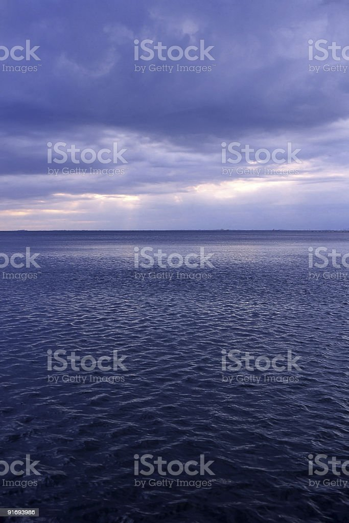 Adriatic Sea at Sunset, vertical composition royalty-free stock photo