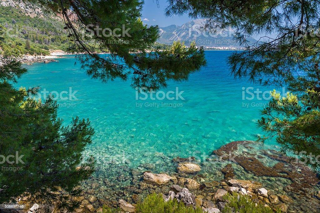 Mar Adriático a la bahía - foto de stock