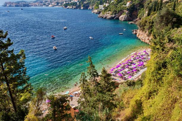 Mar Adriático - Dubrovnik, dalmacia, Croacia - foto de stock