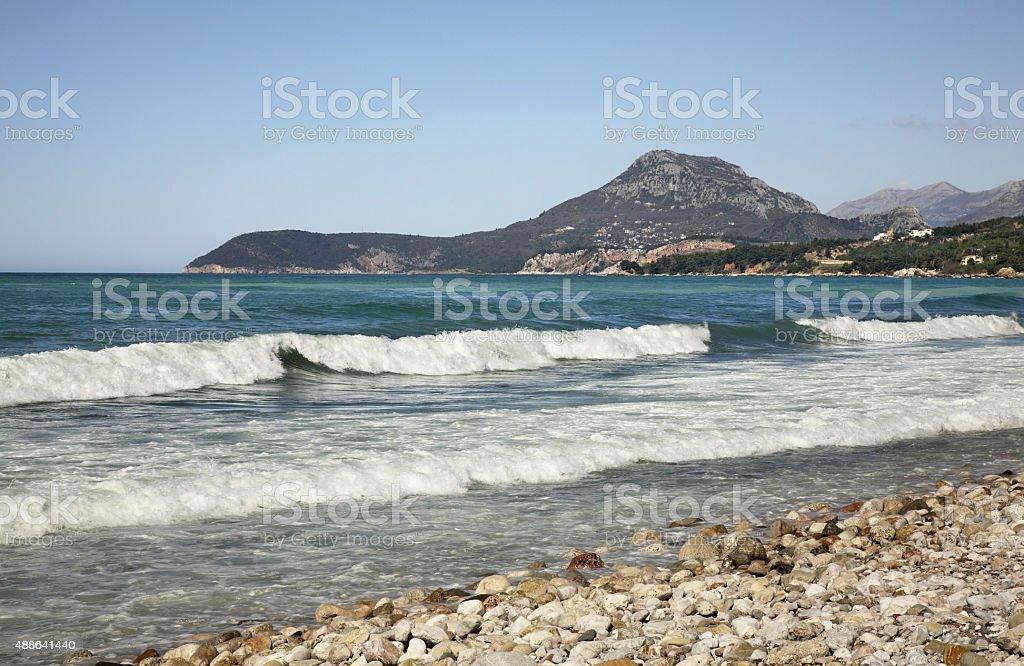 Mar Adriático en el Bar. TM - foto de stock