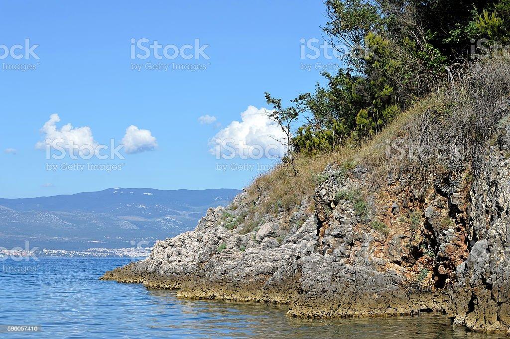 Adriatic Sea, Island of Krk, Croatia royalty-free stock photo