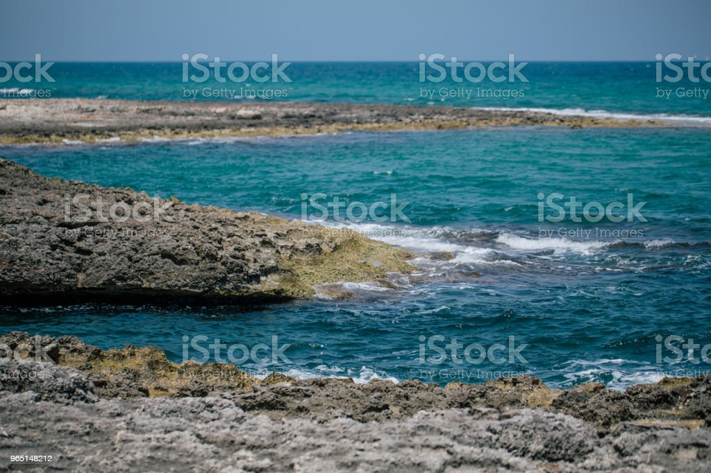 Adriatic sea Italia blue coast apulia royalty-free stock photo