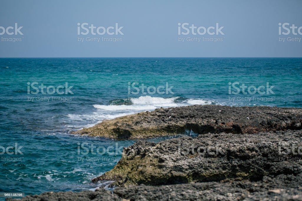 Adriatic sea Italia blue coast apulia zbiór zdjęć royalty-free