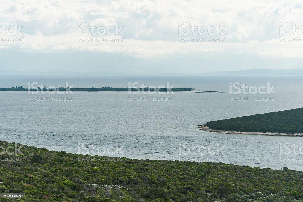 Adriatic Sea, Losinj Island, Croatia stock photo