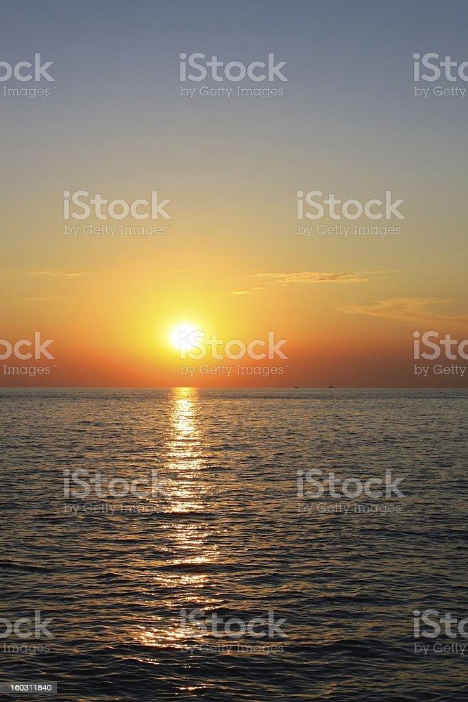 Adriatic Sea Sunset royalty-free stock photo