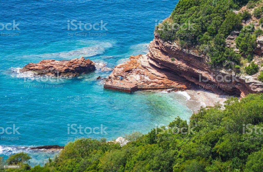 Adriatic seacoast in Budvan Riviera, Montenegro royalty-free stock photo