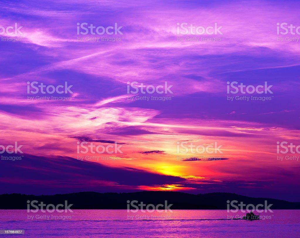 Adriatic Sunset royalty-free stock photo
