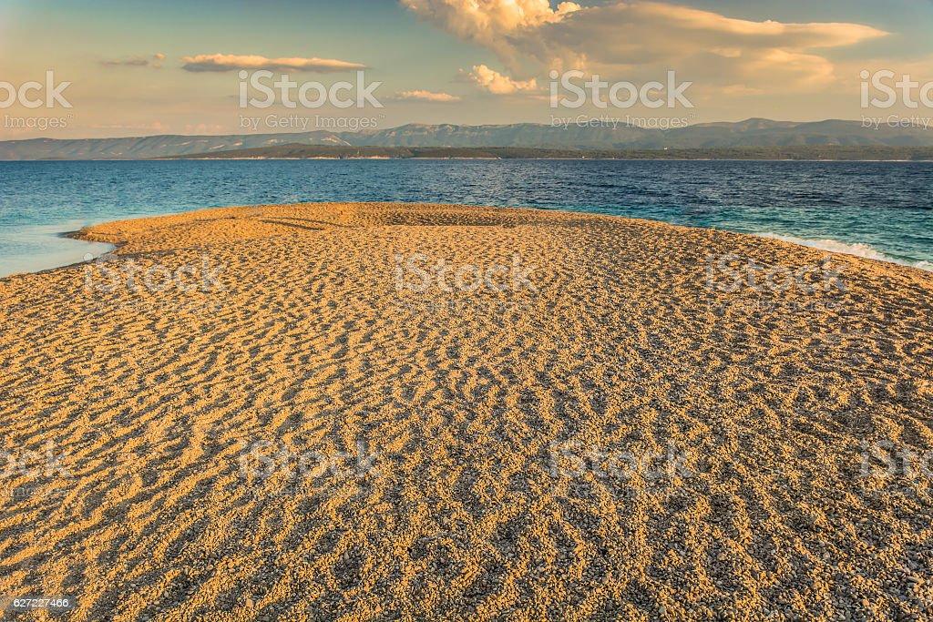 Adriatic symbol Golden Horn beach. stock photo