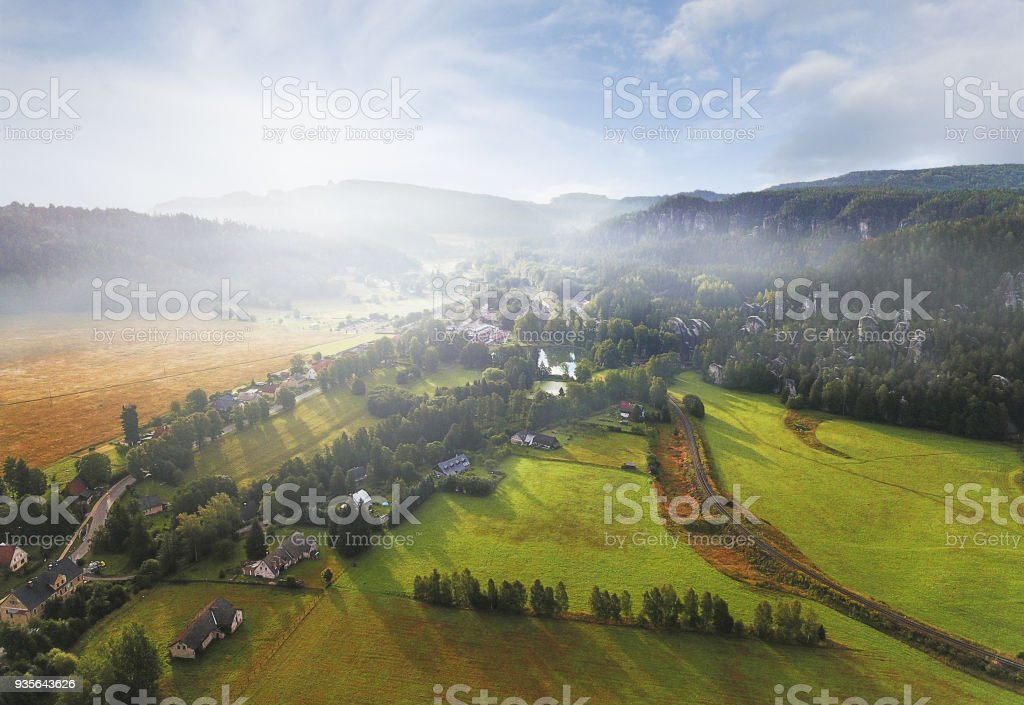 Adrspach Teplice rocks stock photo