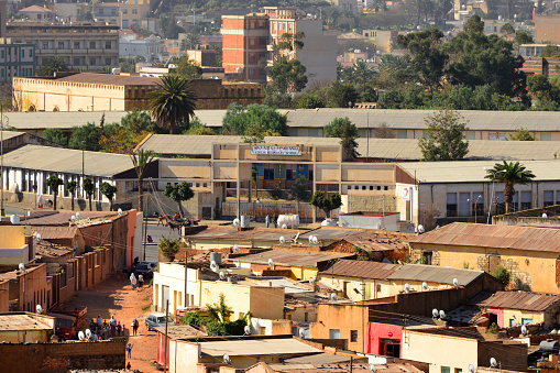 Asmara, Eritrea: Adulis Secondary School, named after the ancient city located along the Red Sea in the Gulf of Zula - corner of Afabet Street and Debre Bizen Street - Arbate Asmara.