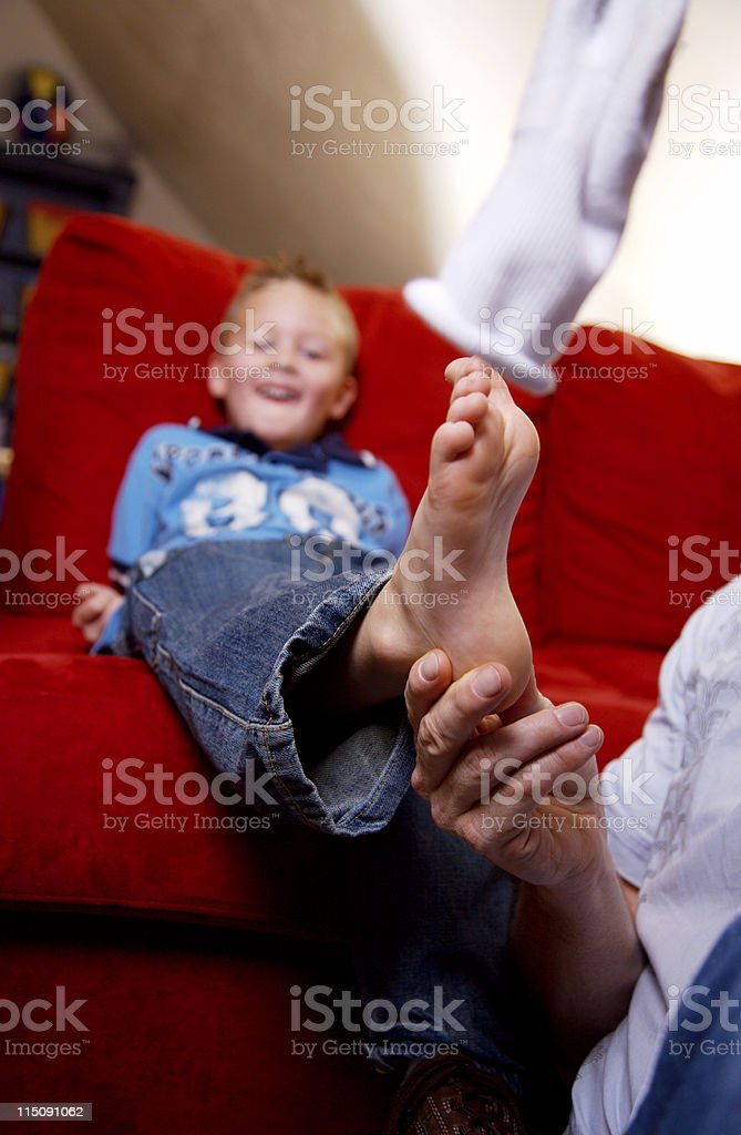 adult and adolescent portraits stock photo