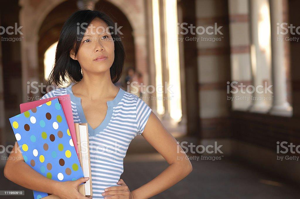 Adult Asian Female University Student On Campus royalty-free stock photo