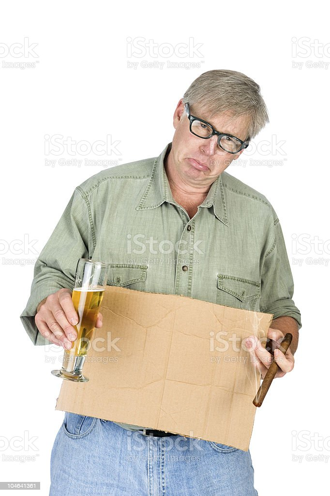Adult begger stock photo