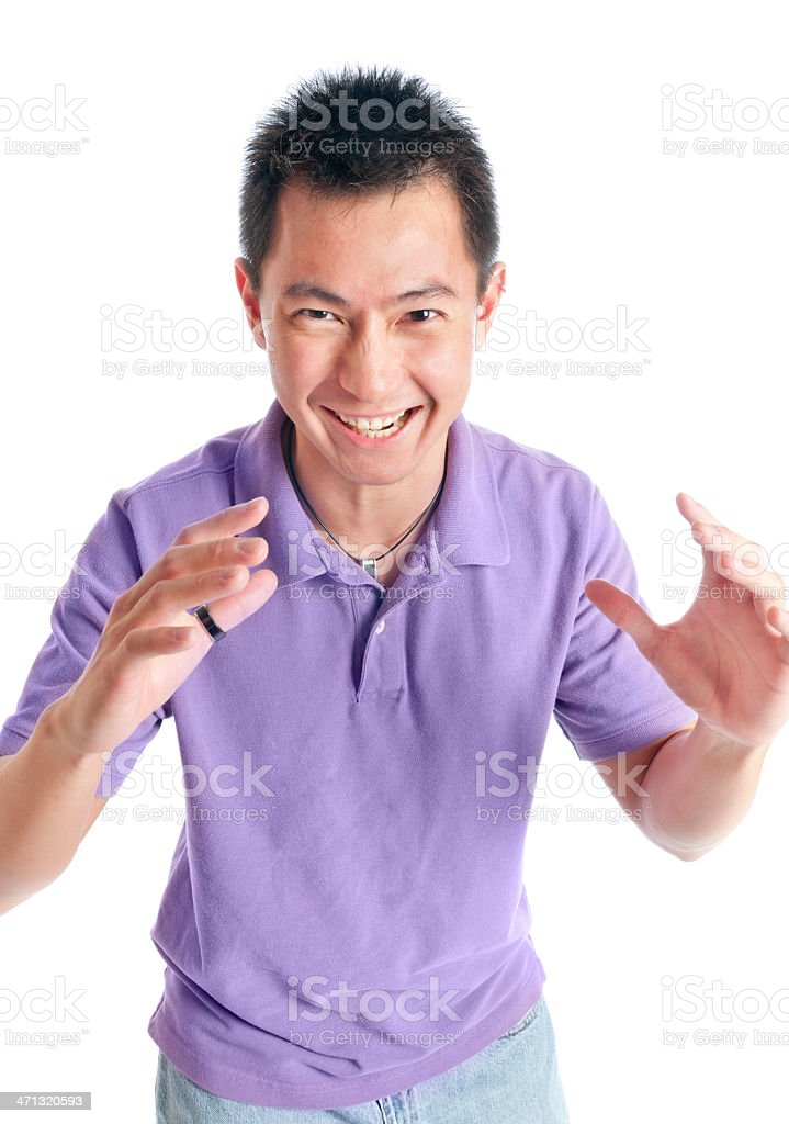Adult Chinese Male Reaching Out for You! stock photo