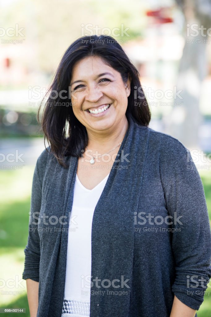 Adult College Student on Campus stock photo