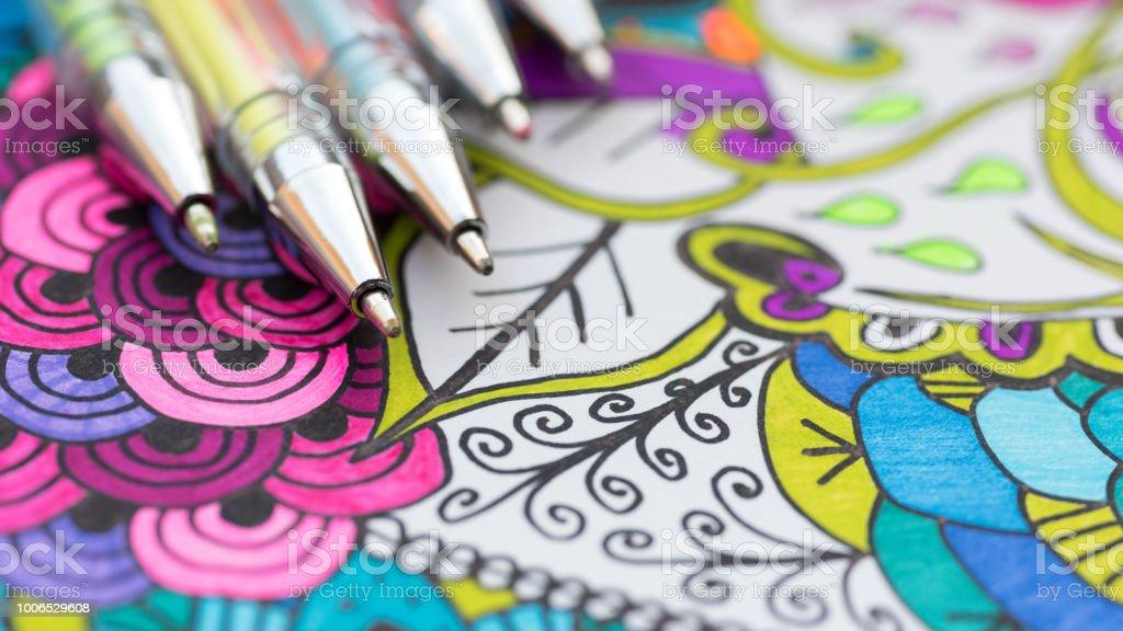 Coloriage Adulte Therapie.Photo Libre De Droit De Livre De Coloriage Adulte Nouveau Stress