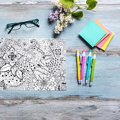 Adult Coloring Books New Stress Relieving Trend