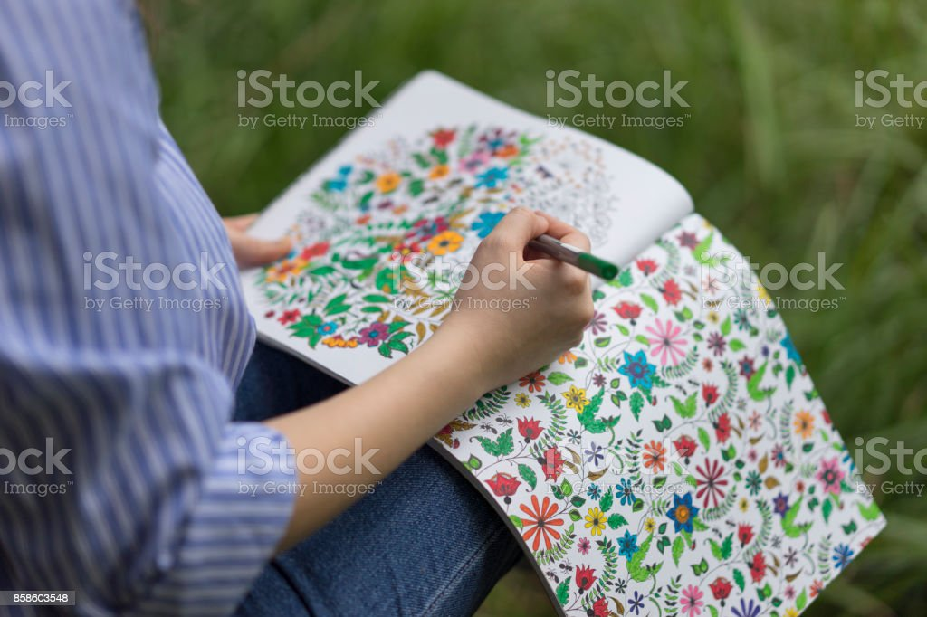 Adult Coloring Books stock photo