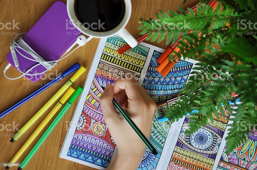 Adult colouring book - Photo