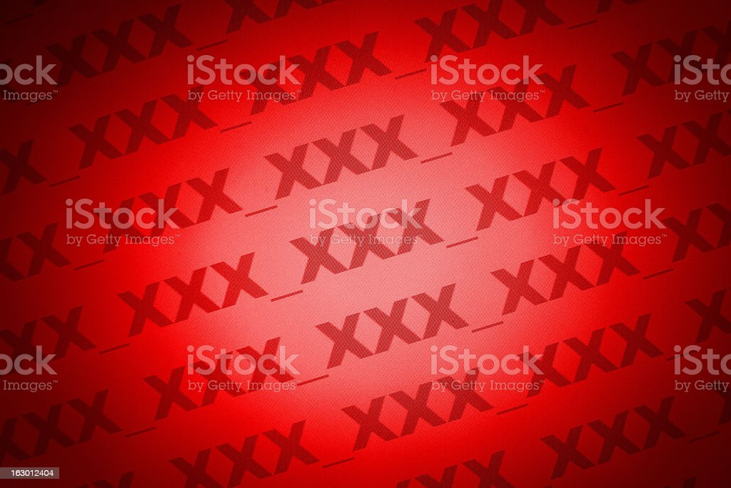 XXX - adult content royalty-free stock photo