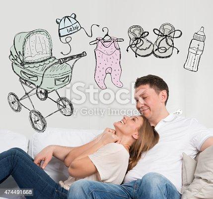 istock Adult couple planning baby 474491668