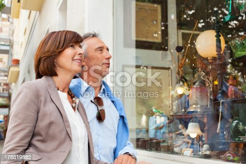 Adult couple shopping in an antique shophttp://bit.ly/183kyid
