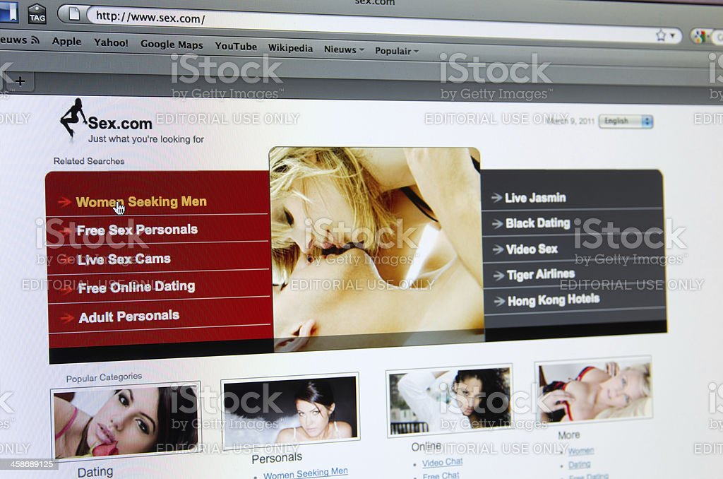 Adult dating website royalty-free stock photo