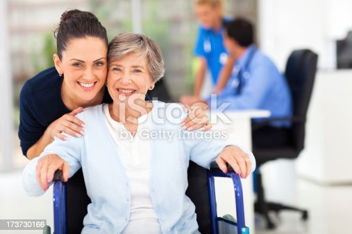 istock adult daughter accompanying senior mother visiting doctor 173730166