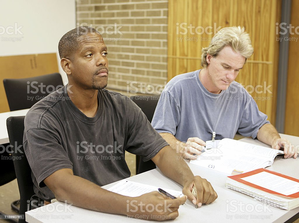 Adult Ed - Bored in School royalty-free stock photo