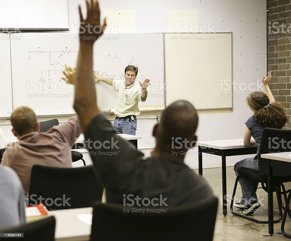 Adult Ed - Questions stock photo