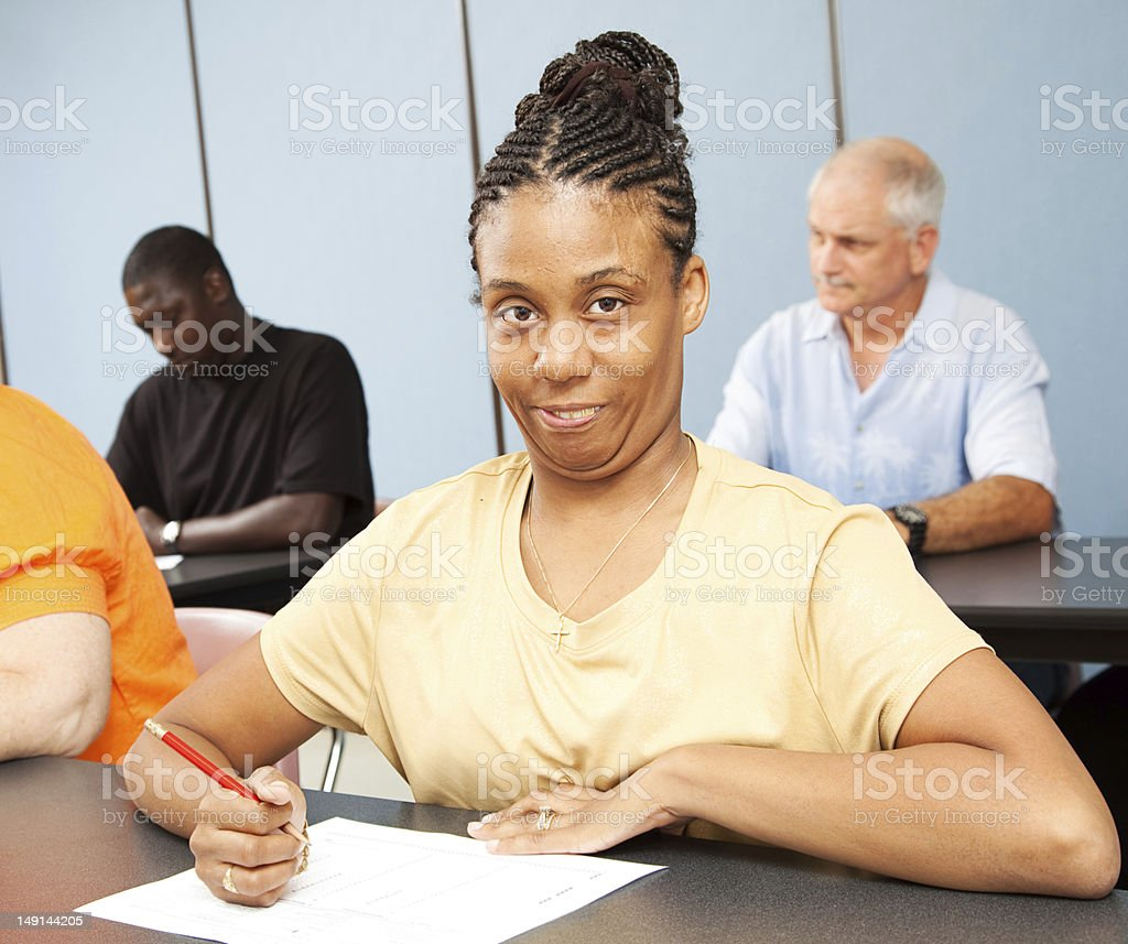 Adult Ed Student - Special Education stock photo