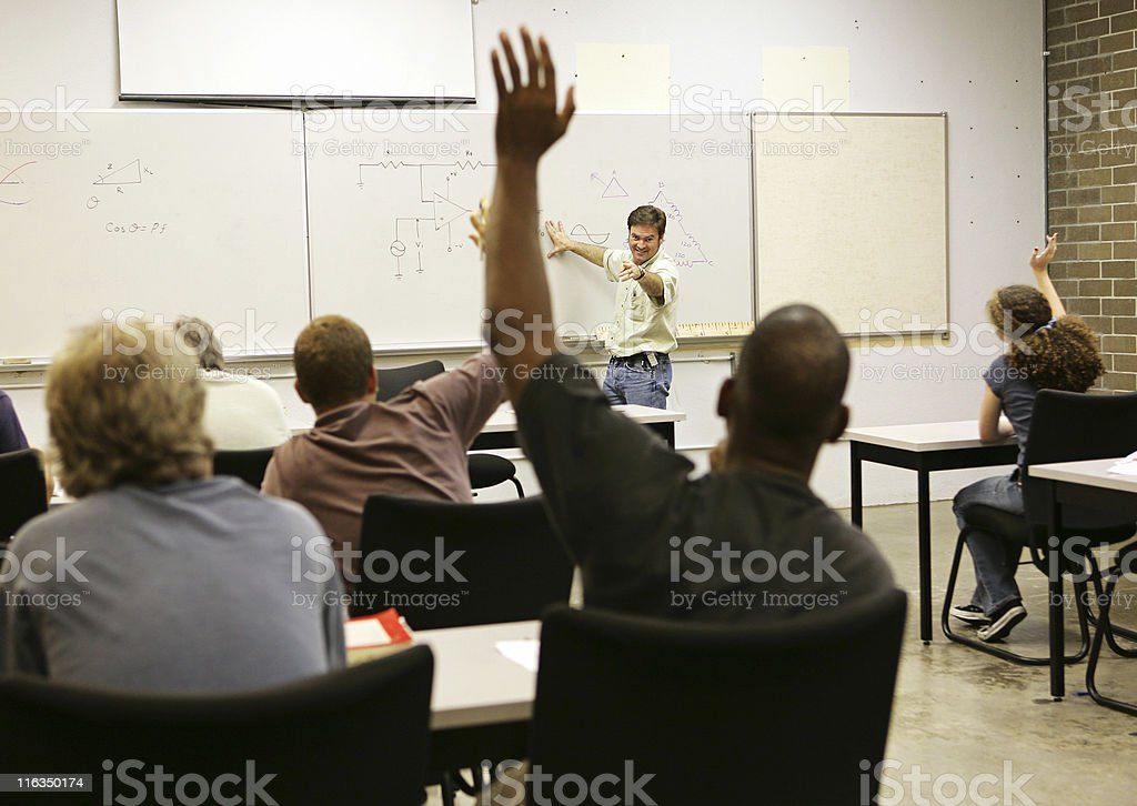 Adult Ed - Whole Class stock photo