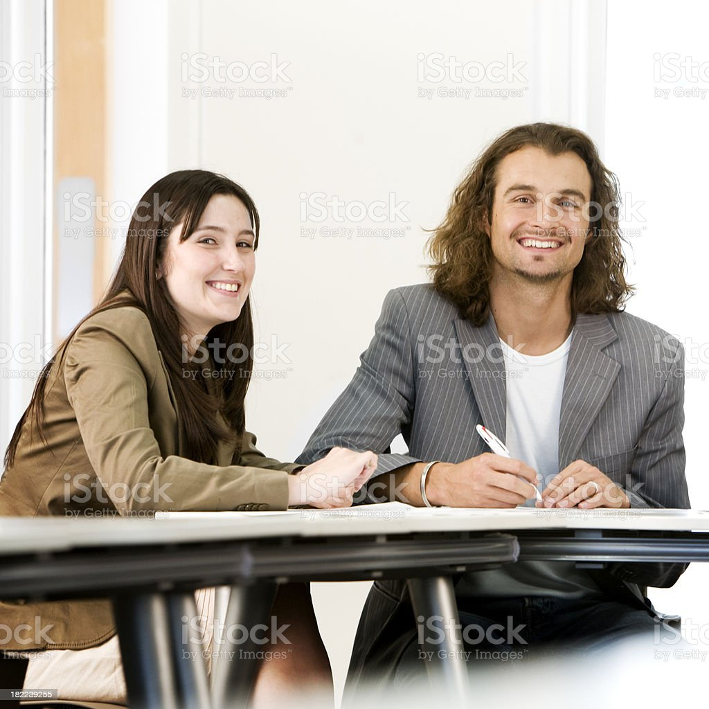 adult education business studies: business partners royalty-free stock photo