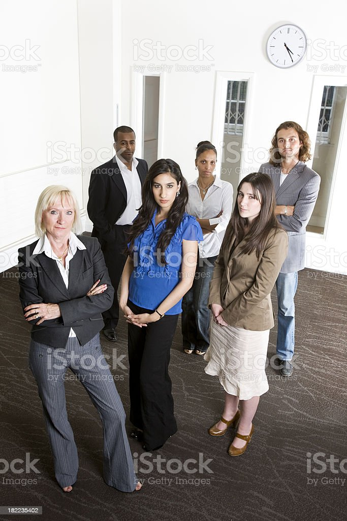 adult education business studies: business team royalty-free stock photo