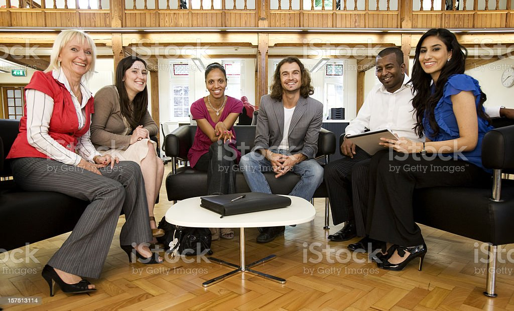 adult education business studies: group studies royalty-free stock photo