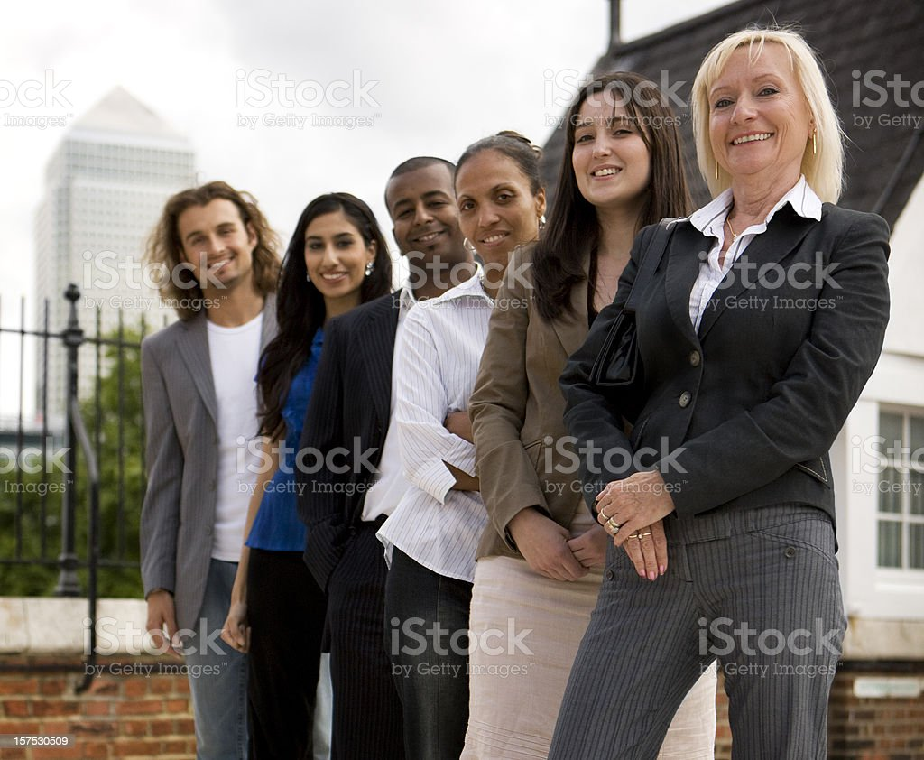adult education business studies: professional team royalty-free stock photo