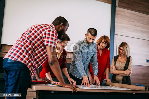 876965270 istock photo Adult education in urban planning for multi ethnic group 1062424066