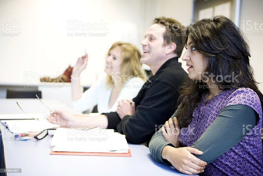 adult education: learning difficulties stock photo
