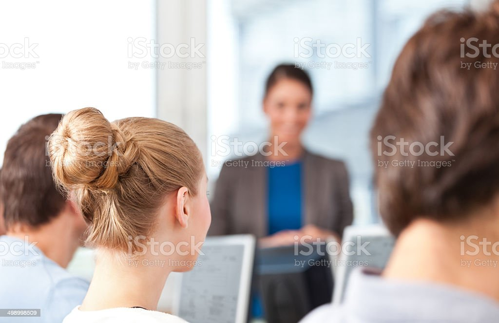 Adult education Group of adult students attending a job training. 30-39 Years Stock Photo