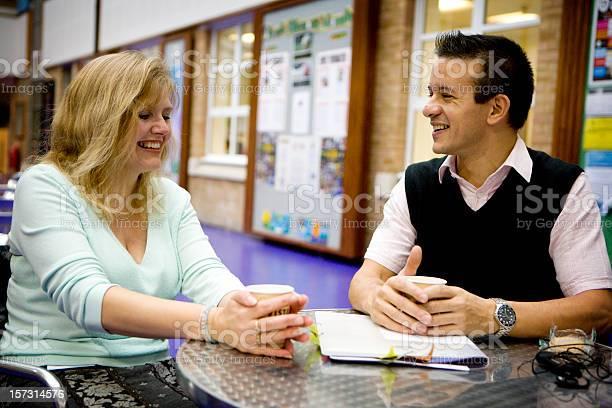 Adult education two mature students enjoying a break together picture id157314576?b=1&k=6&m=157314576&s=612x612&h=0ojbytxylpyhuspdfgdjlt458kamg8w6z vtvoqz7xo=