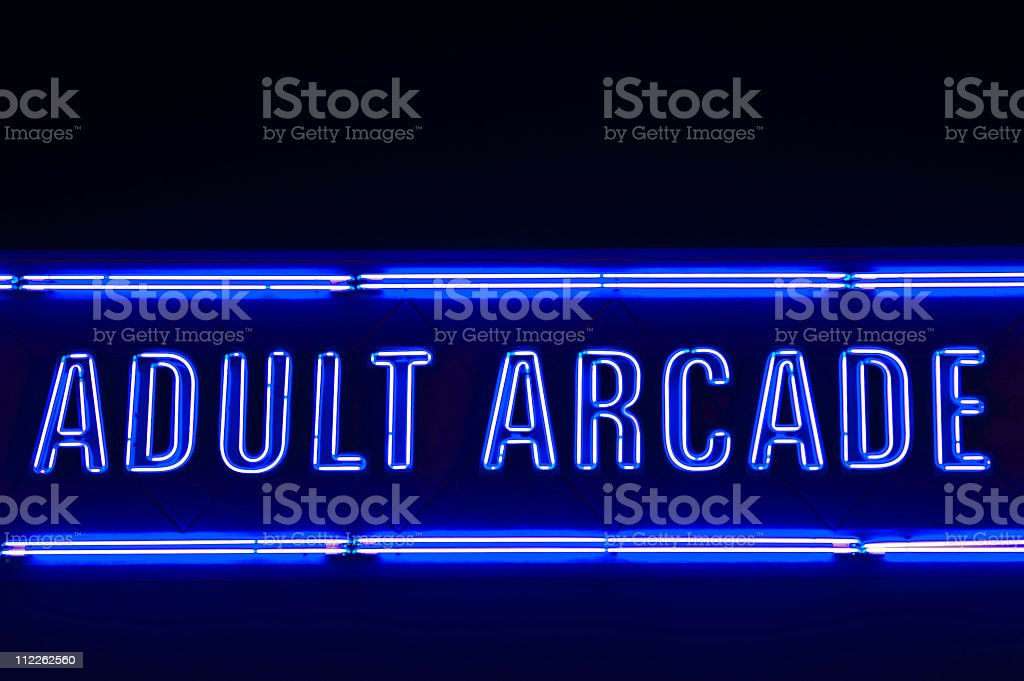 adult entertainment sign stock photo