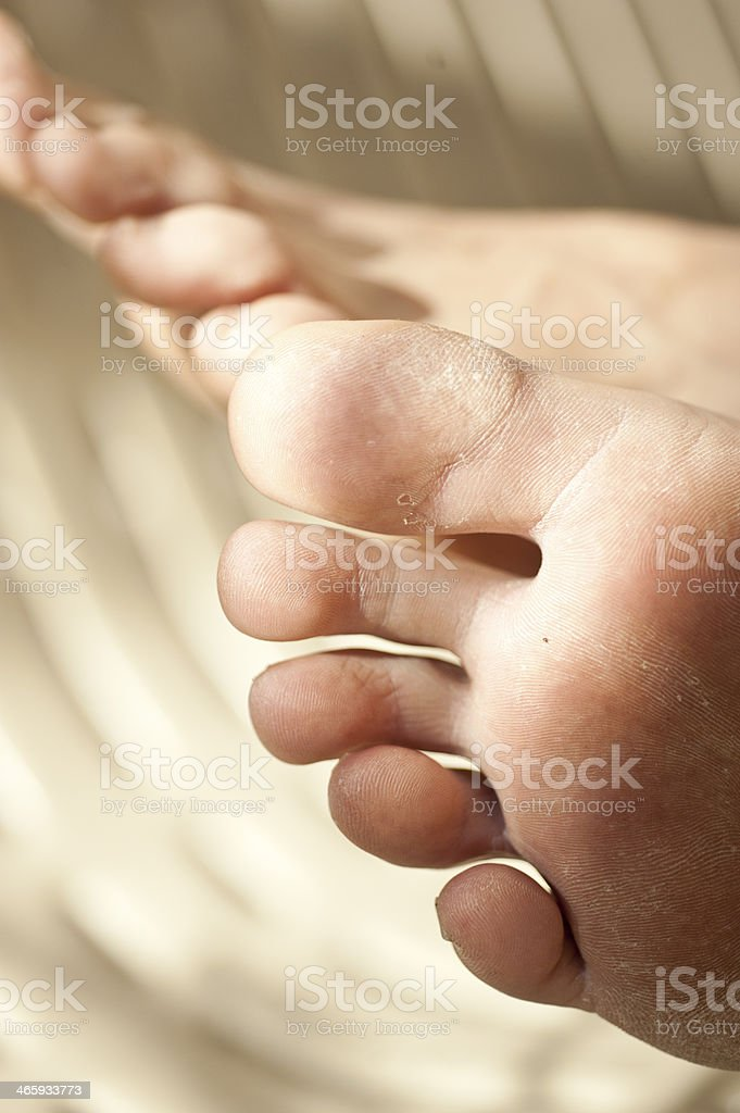 Adult Feet royalty-free stock photo