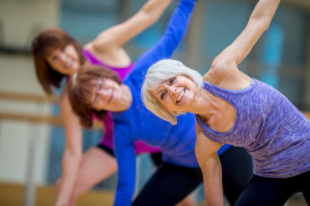 Adult Fitness Class stock photo