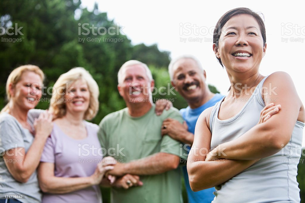 Adult friends royalty-free stock photo